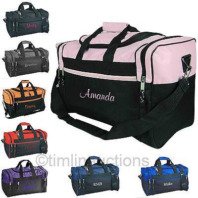 (Personalized Gym Bag School Sports Duffel Travel Carry On Groomsmen Cheer Dance)