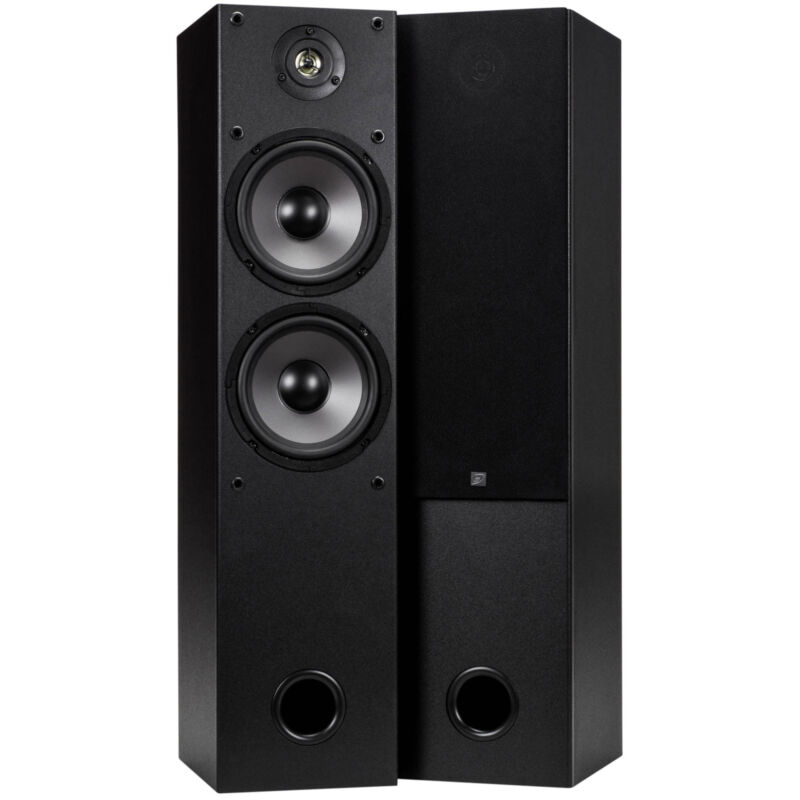 "Dayton Audio T652 Dual 6-1/2"" 2-Way Tower Speaker Pair Shopp"