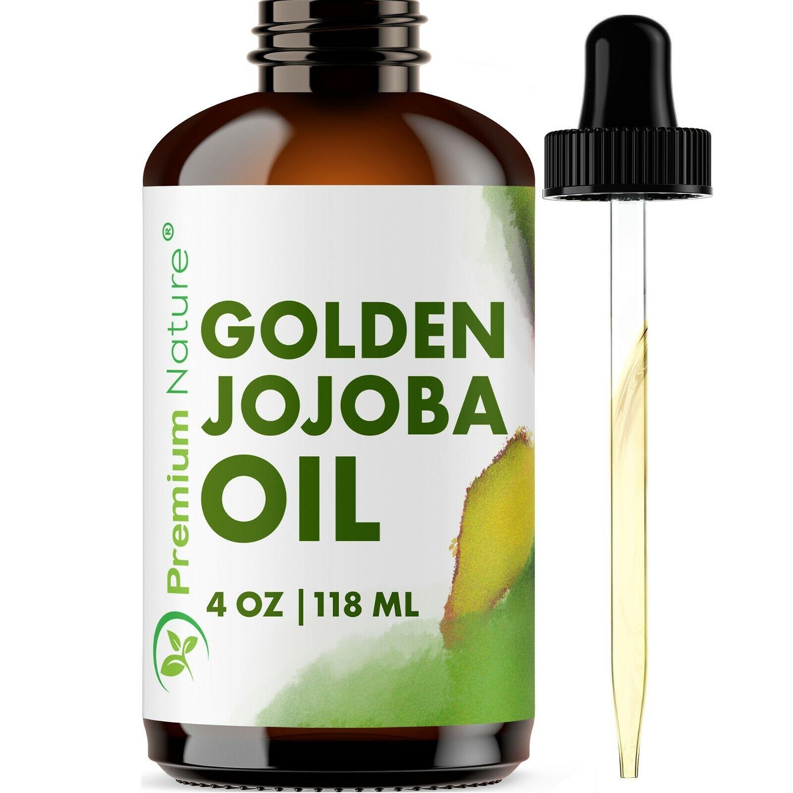 Golden Jojoba Oil Facial Moisturizer Cleaner Nail Hair Growt