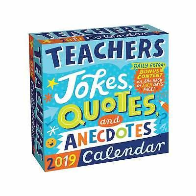 Teachers Jokes Quotes and Anecdotes Desk Calendar 2019 Humour