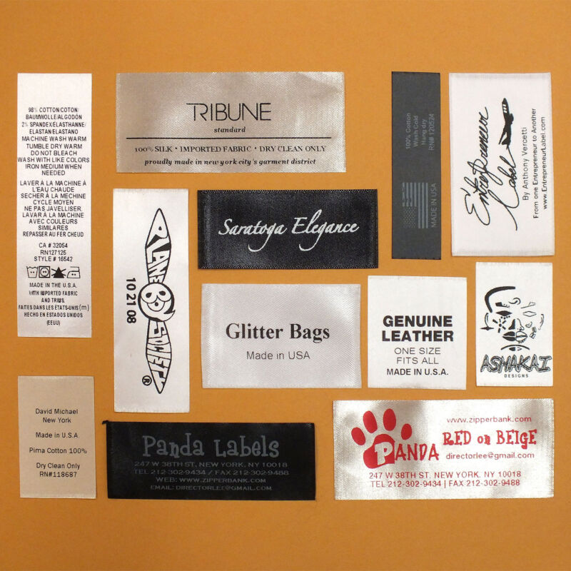 250 PCS CUSTOM PRINTED CARE TAGS CLOTHING LABELS