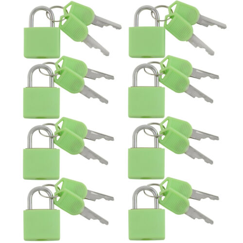Small Mini Durable ABS Cover Brass Body Individually Keyed Padlock 8pc Mint