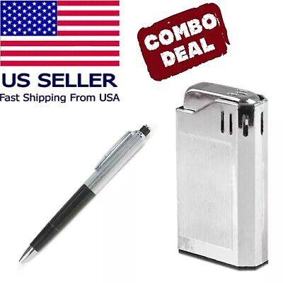 1 Shock Lighter & 1 Shock Ink Pen Shocking Gag Gift Prank Joke ()