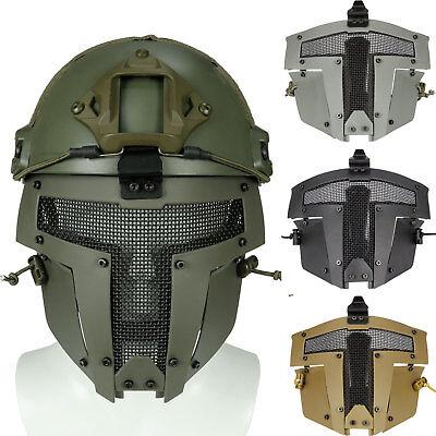 Mesh Maske (Paintball Airsoft Nylon Helm Maske Sparta Vollmaske Metall Mesh Cover Schutz)