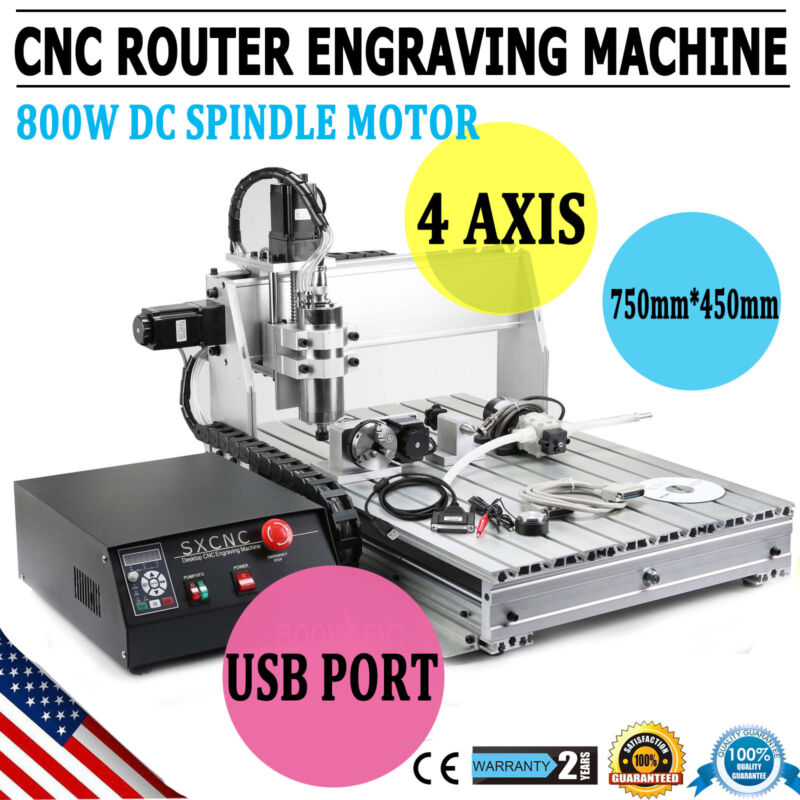 4 AXIS USB 1.5KW CNC 6040Z Router Engraver Wood Drill/Milling Machine+Controller