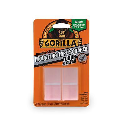 Gorilla Tough Clear Double Sided Mounting Tape Squares Clear 24 Squares
