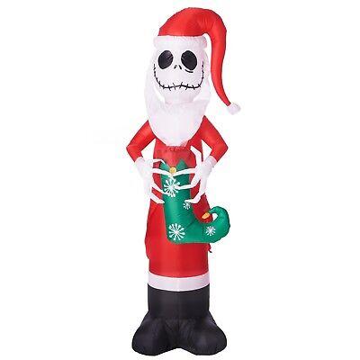 THE NIGHTMARE BEFORE CHRISTMAS 5.5' JACK SKELLINGTON AS SANTA  YARD INFLATABLE
