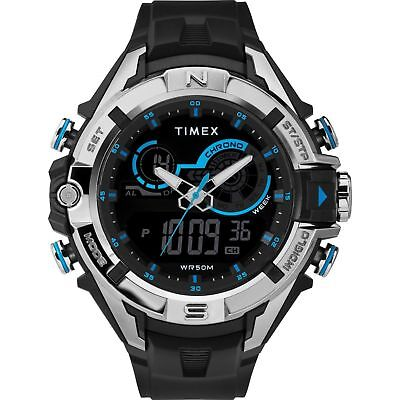 Timex TW5M23000, Guard DGTL Black Resin Watch, Indiglo, Day/Date, Alarm