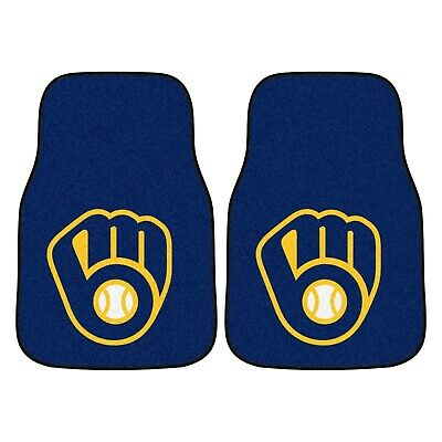 Milwaukee Brewers 2-Piece Carpet Car Auto Floor Mats Fanmats Milwaukee Brewers Car Mats