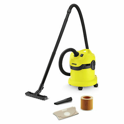 KARCHER WD2 Wet and Dry Vacuum Cleaner with 1000W Power and Crevice Tool
