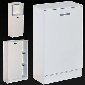 White Wooden Bathroom Cabinet Shelving Storage Unit Cupboard Store Shelves Shelf Ebay