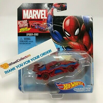 Spider-Man w/ Web Shooter * 2019 Hot Wheels MARVEL Character Cars Case M