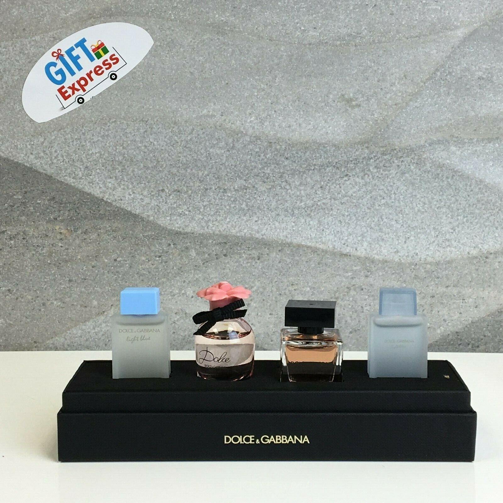 DOLCE & GABBANA for Women 4 Piece MINI Perfume Gift Set NEW