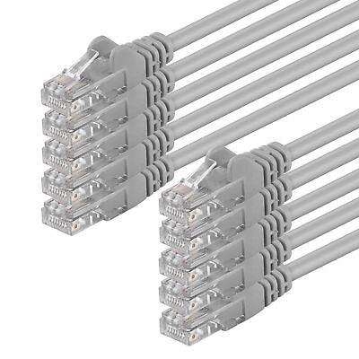 10' Cat6-kabel (10 Stück CAT6 Kabel Patchkabel Netzwerk DSL LAN Gigabit RJ45 10x grau 0,25m- 20m)
