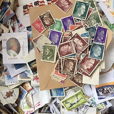 1KG WORLDWIDE Used STAMPS World Commonwealth KILOWARE Antique Recent Lot 8