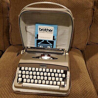 Vintage Brother Profile 700 Portable Typewriter W/ Case & Manual Tested Nice!