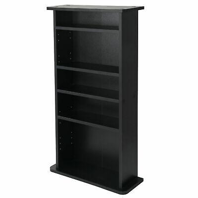 DVD CD Multimedia Cabinet Storage Adjustable 5 Layers Book Shelf Media Tower