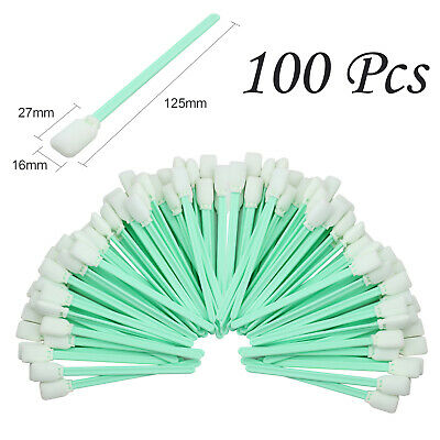 100x Printer Cleaning Foam Swab Flatbed Plotter Roland Mimaki Mutoh Epson Hp New