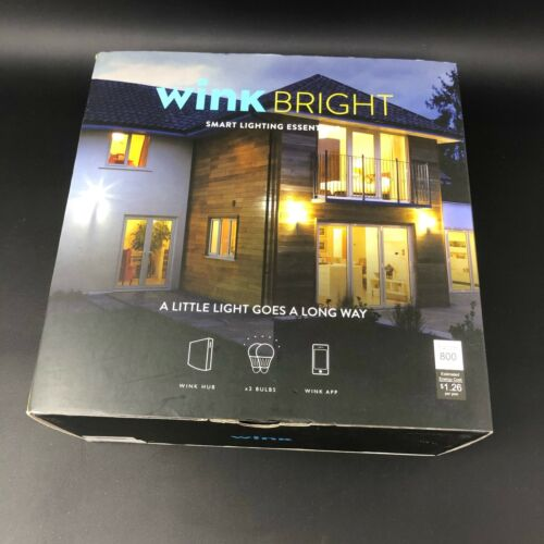 WinK Bright Hub 2 With Two Smart Bulbs Wink New, sealed in box