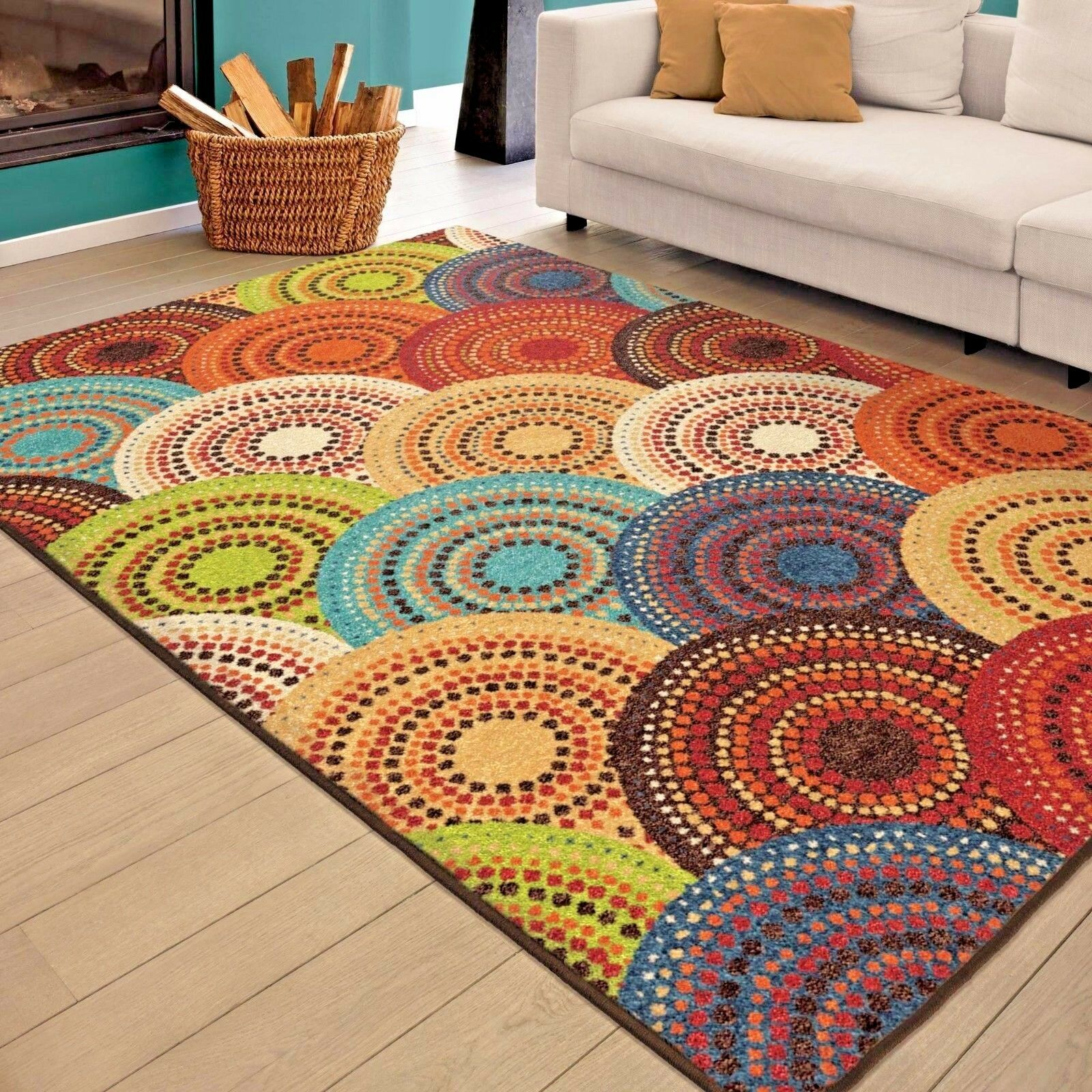 Rugs area rugs carpets 8x10 rug floor modern cute colorful - Living room area rugs ...