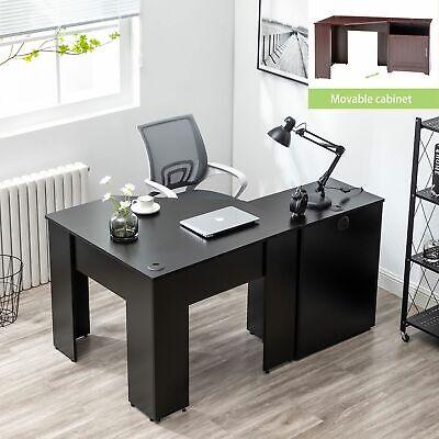 L-shaped Computer Desk Corner Pc Laptop Table Workstation Home Office Furniture