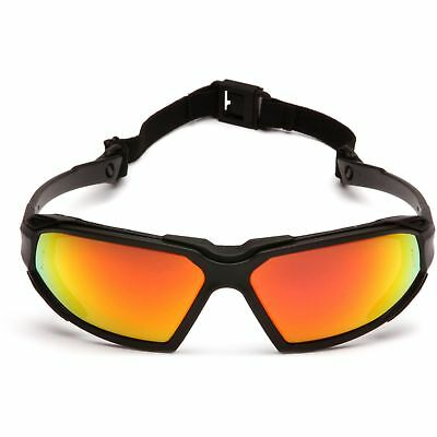 Pyramex Highlander Safety Glasses With Red Anti-fog Mirror Lens