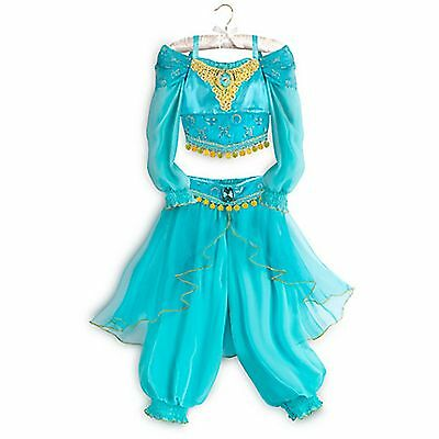 Disney Store Jasmine Aladdin Genie Dress Up Costume Halloween Size 3 RETIRED NEW