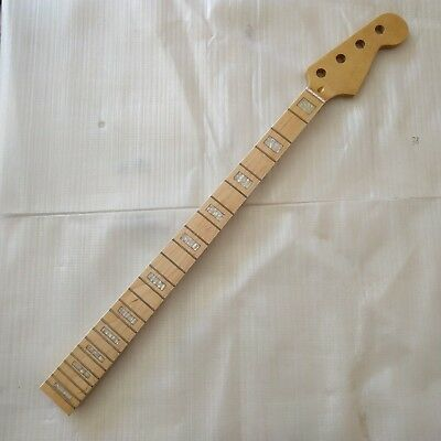 Beautiful Bass Neck for P-Bass Guitar Maple 4 string  24 Frets parts Replacment for sale  Shipping to Canada