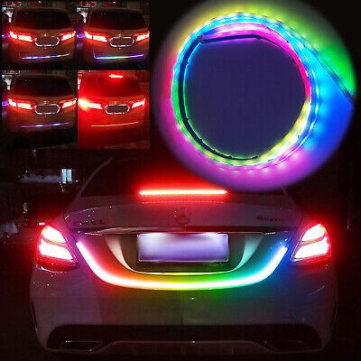 RGB LED Strip Tailgate Signal Lights Bar Trunk Tail Backup Light 47