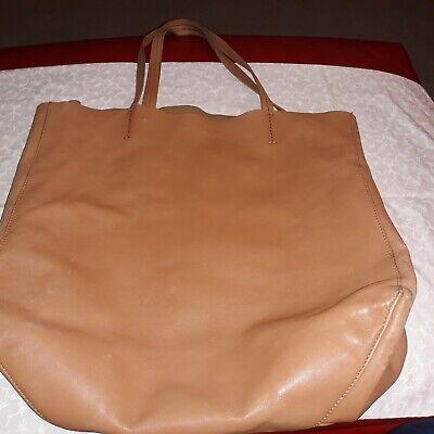 100% Authentic Celine Cognac Leather Cabas Tote Bag - Preowned
