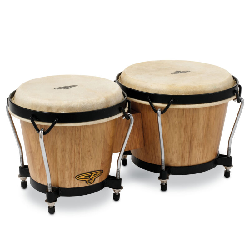 Latin Percussion CP Traditional Wood Bongos Dark Wood