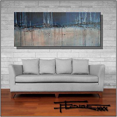 ABSTRACT MODERN CANVAS PAINTING CONTEMPORARY WALL ART  60x24 US artist ELOISExxx