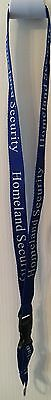 HOMELAND  SECURITY LANYARD ID Badge Holder Key Ring Federal