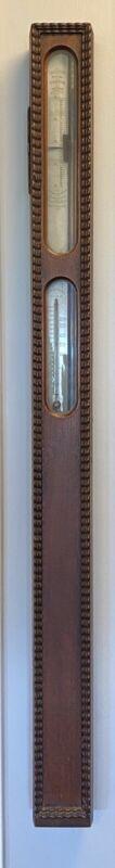 Antique Old Simmons Portable Stick Barometer - American Pat'd 1861 - Fancy Model