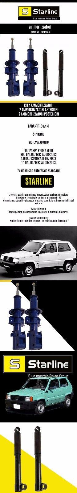 KIT 4 AMMORTIZZATORI STARLINE FIAT PANDA (141) 900, 1.0, 1.1 3 ANNI DI GARANZIA