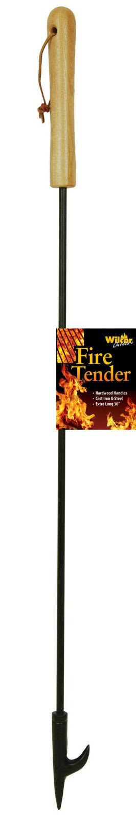 Campfire Fireplace Fire Tender Poker Tool Extra Long 36