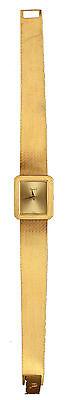 Piaget Ladies 18K Yellow Gold 4154 B2 Band Wristwatch Rectangular Face + Catalog