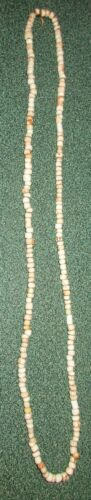 Indian Artifacts 200 Glass White Trade Bead Necklace, Colusa, Cty California
