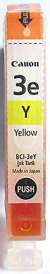 Canon BCI-3eY Genuine Yellow Cartridge. New & Sealed.