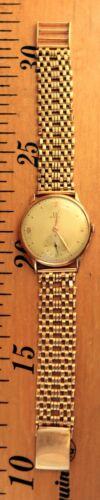 OMEGA Watch Case & Strap Solid Gold 18K Rare Genuine Year 1944/1946 Size XL/XXL