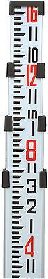 16' Northwest Aluminum Survey Level Rod Stick INCHES NAR16E