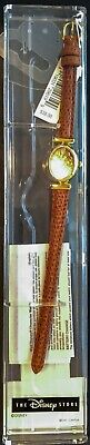 Womens Vintage Disney Store Winnie the Pooh (Tigger) Watch (Goldtone)Leather-New