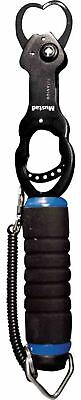 Mustad Fish Gripper Spring Trigger Sea Fishing 50lb Pound Weigh Scale + Lanyard