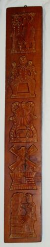ANTIQUE B.W. SIEMONS AMSTERDAM GERMAN HAND CARVED WOOD COOKIE MOLD  PATTERN