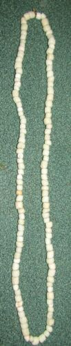 Indian Artifacts 128 Glass White Trade Bead Necklace, Colusa, Cty California