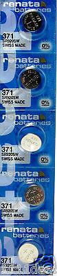 5 Renata 371 Mercury Free Silver Oxide SR920SW Watch