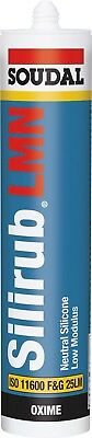 Soudal Silirub RAL 9001 Cream White Silicone Sealant