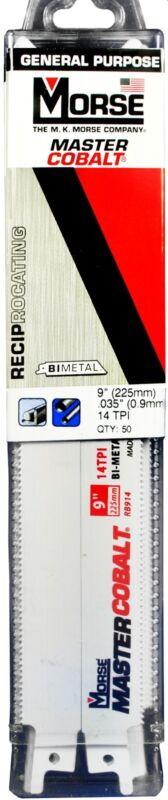 "MORSE Master Cobalt Reciprocating Saw Blade 9"" x 3/4"" 14TPI RB914T50 (50 pack)"