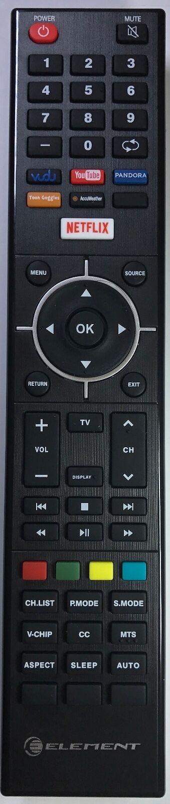 Element Elsf502 Tv Remote Control Original Netflix Youtub...