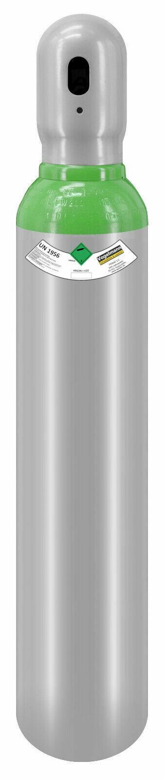 Gasflasche 8 Liter ARGON (82%) + CO2 (18%) Schutzgas Schweißgas MIG fabrikneu